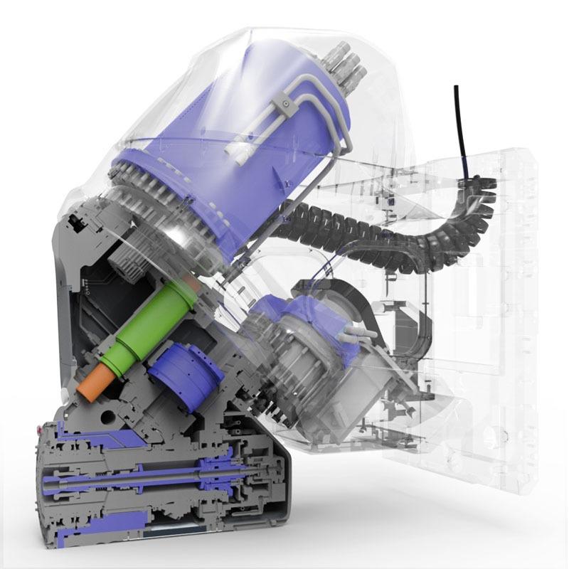Getriebespindel für eine Fräsmaschine