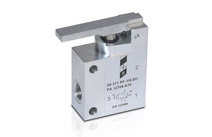 3//2 Wege-Ventil Rollenventil Ventil Pneumatik Druckluft 3//2-Wege-Rollenventil