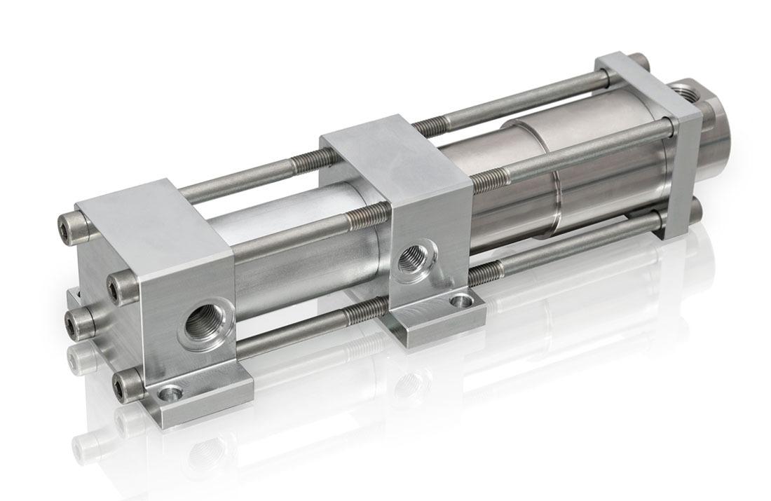 Druckverstärker mit Hochdruckdichtung