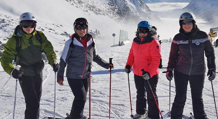 Ski-Spaß mit sportlichem Touch