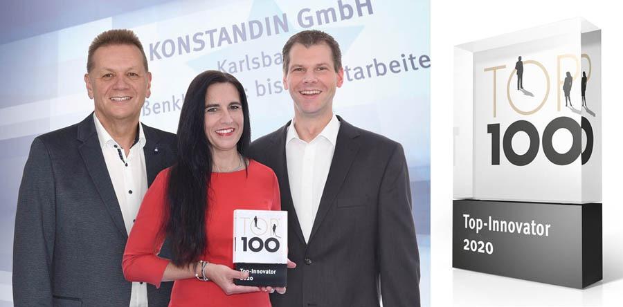 Konstandin GmbH, Innovations-Sieger im TOP 100 Wettbewerb